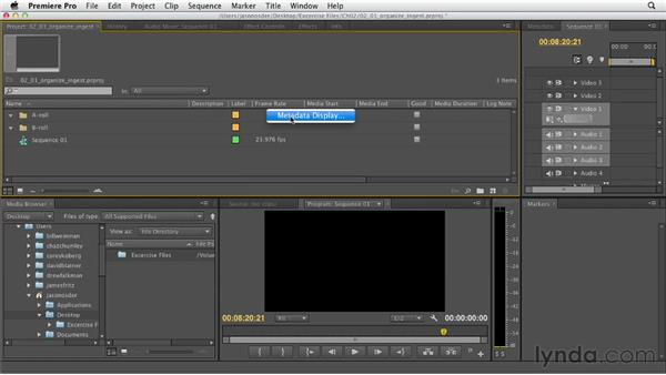 Organizing the ingest process: Documentary Editing with Premiere Pro