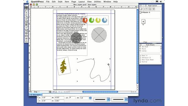 scissors tool: QuarkXPress 6 Essential Training