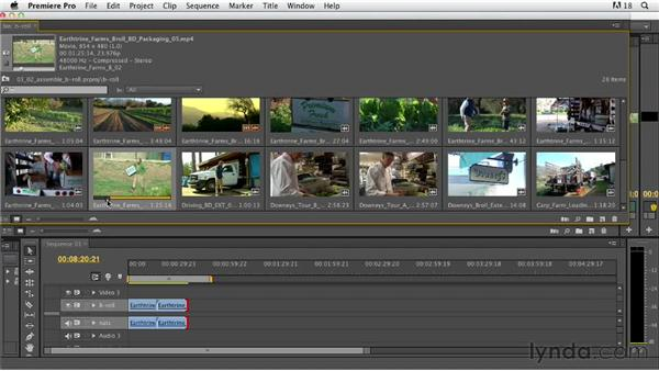 Assembling B-roll shots: Documentary Editing with Premiere Pro