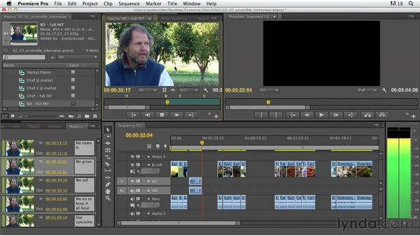 Assembling interviews: Documentary Editing with Premiere Pro