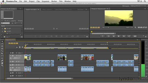 Building sequences and scenes: Documentary Editing with Premiere Pro