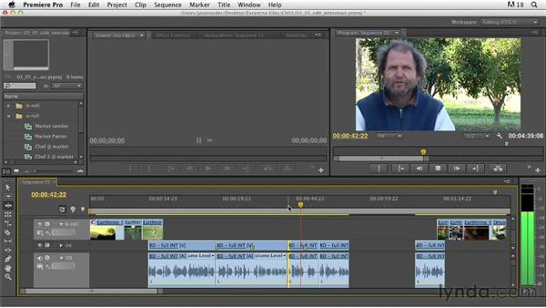 Editing interview bites on the Timeline: Documentary Editing with Premiere Pro