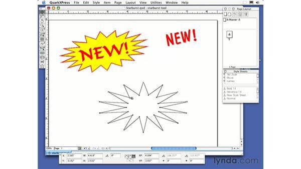 starburst tool: QuarkXPress 6 Essential Training