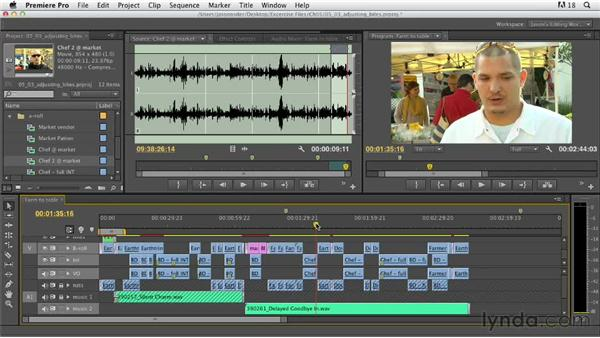 Adjusting interview content: Documentary Editing with Premiere Pro
