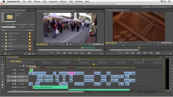Adjusting B-roll shots: Documentary Editing with Premiere Pro