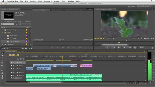 Adding end credits: Documentary Editing with Premiere Pro