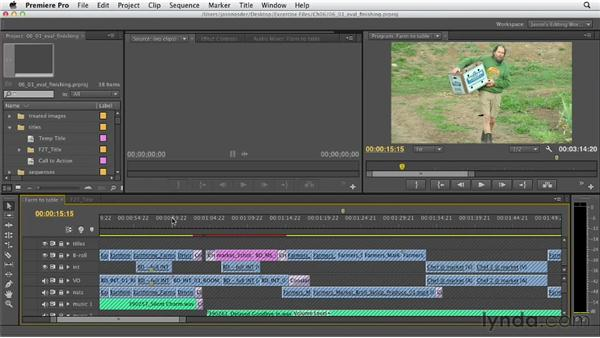 Evaluating the piece for finishing goals: Documentary Editing with Premiere Pro