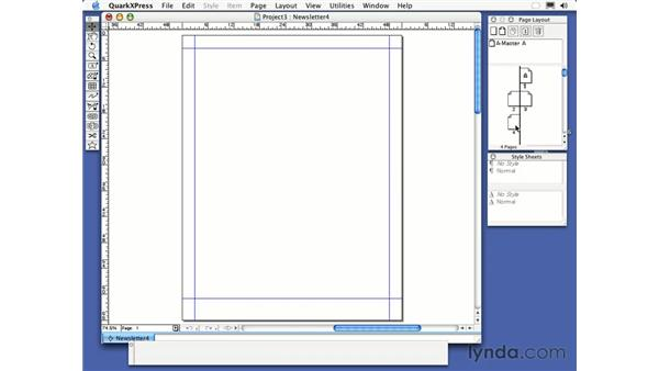 adding pages: QuarkXPress 6 Essential Training