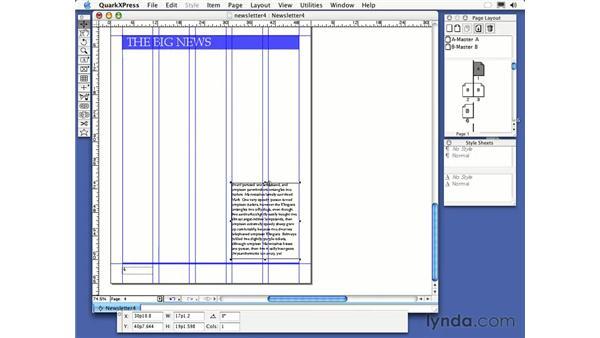 linking text: QuarkXPress 6 Essential Training