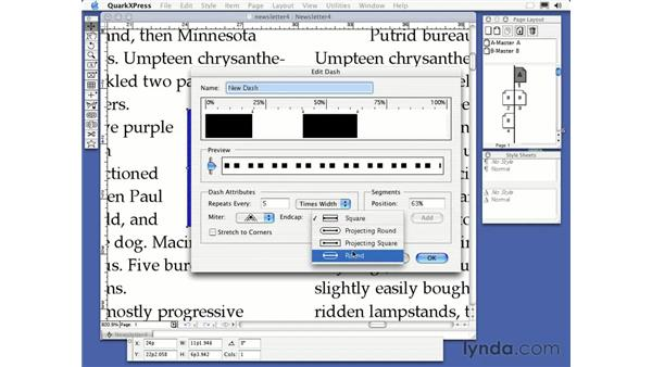 textbox frame color: QuarkXPress 6 Essential Training