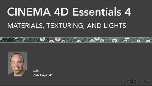 Exploring what comes next: CINEMA 4D Essentials 4: Materials, Texturing, and Lights