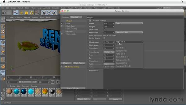 Working with render settings: CINEMA 4D Essentials 5: Rendering and Compositing