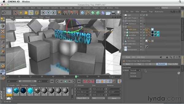 Using the Compositing tag and creating object buffers: CINEMA 4D Essentials 5: Rendering and Compositing