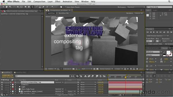 Compositing 3D renders in After Effects: CINEMA 4D Essentials 5: Rendering and Compositing