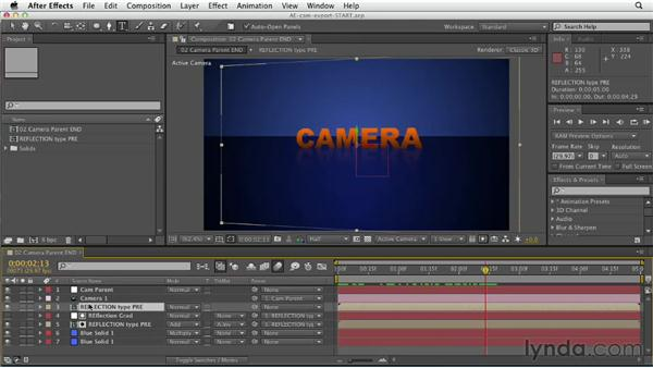 Importing camera data from After Effects: CINEMA 4D Essentials 5: Rendering and Compositing