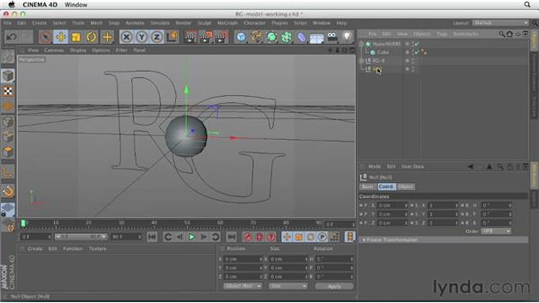 Preparing to model: Setting up reference shapes: CINEMA 4D Essentials 6: HyperNURB Modeling and Sculpting