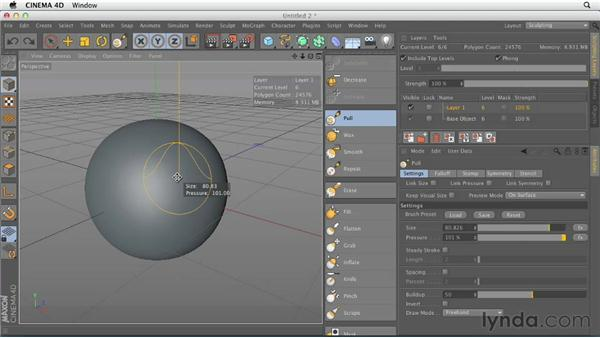 Understanding the sculpting workflow: CINEMA 4D Essentials 6: HyperNURB Modeling and Sculpting