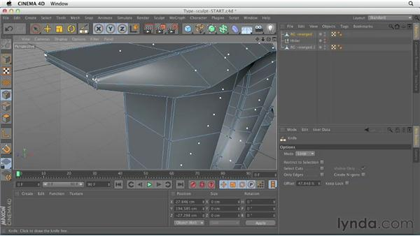 Preparing geometry and subdividing objects: CINEMA 4D Essentials 6: HyperNURB Modeling and Sculpting