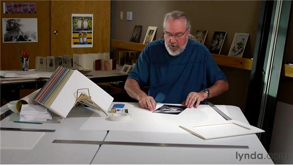 Mounting the art with repositionable mounting adhesive (RPMA): Matting, Framing, and Hanging Your Photographs
