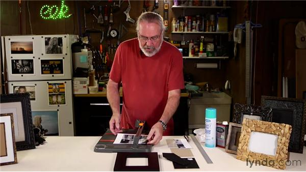 Assembling an easel back frame: Matting, Framing, and Hanging Your Photographs
