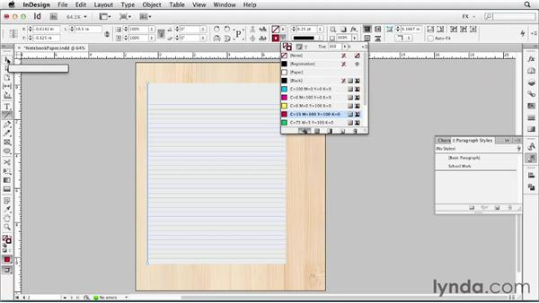 057 Simulating a college notebook: InDesign FX