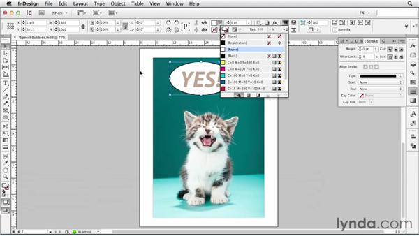 060 Creating speech bubbles: InDesign FX