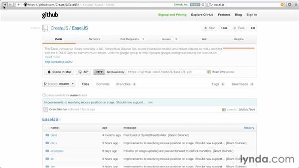 Installing EaselJS: EaselJS First Look