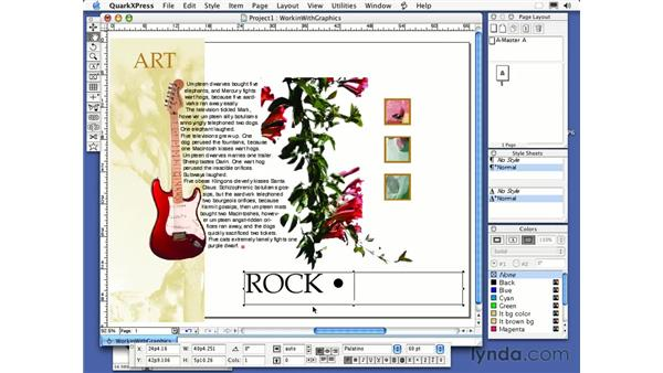putting frames around boxes: QuarkXPress 6 Essential Training