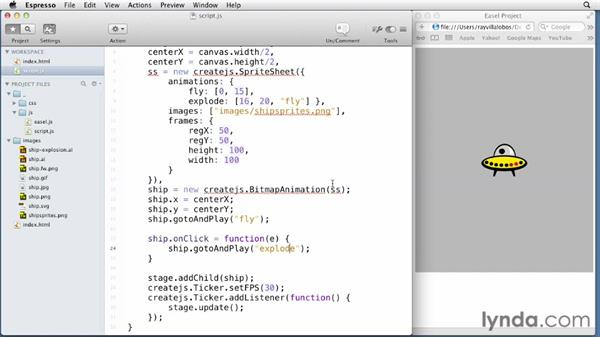 Handling mouse events: EaselJS First Look