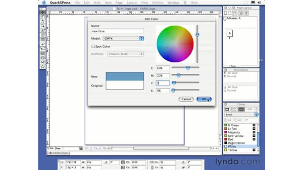 creating a logo: QuarkXPress 6 Essential Training