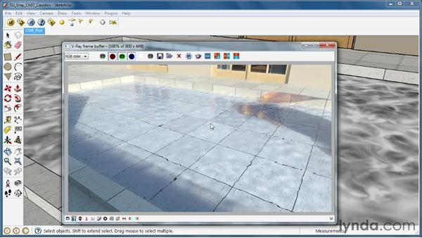 Using caustic lighting effects: SketchUp Rendering Using V-Ray
