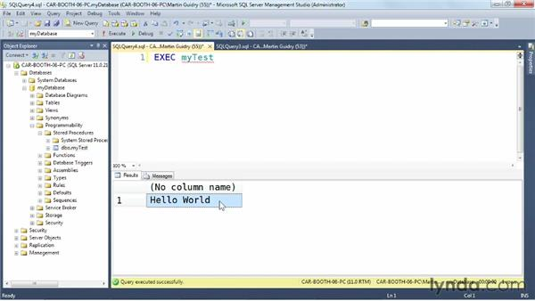 Modifying a stored procedure: SQL Server: Triggers, Stored Procedures, and Functions