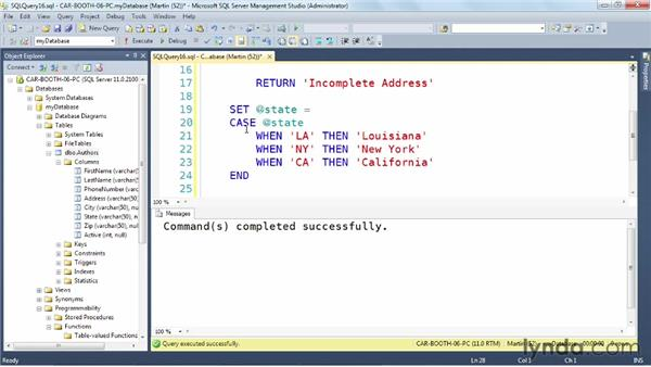 Exploring single-value functions: SQL Server: Triggers, Stored Procedures, and Functions