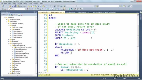 Exploring a real-world UPDATE procedure: SQL Server: Triggers, Stored Procedures, and Functions