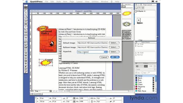 creating web documents: QuarkXPress 6 Essential Training