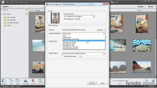 Importing photos from your camera: Up and Running with Photoshop Elements 11
