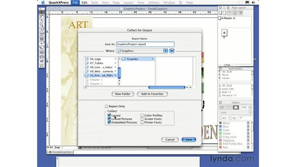 collect for output: QuarkXPress 6 Essential Training