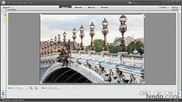 Cropping in Photo Fix: Up and Running with Photoshop Elements 11
