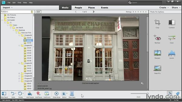 Applying one-click adjustments in Photo Fix: Up and Running with Photoshop Elements 11