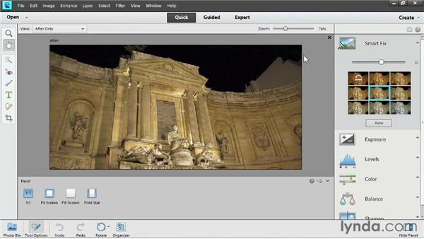 Working in Quick Edit: Up and Running with Photoshop Elements 11