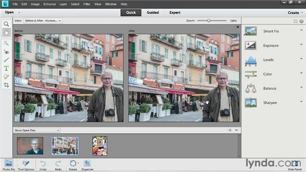 Adjusting color: Up and Running with Photoshop Elements 11