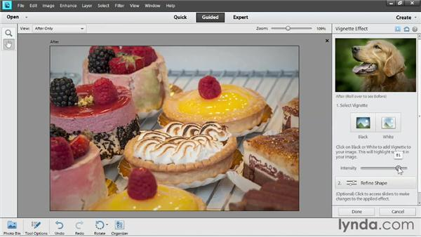 Applying a vignette in Guided Edit: Up and Running with Photoshop Elements 11