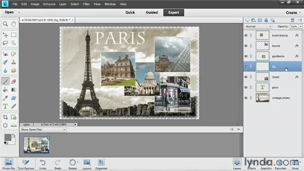 Working with layers: Up and Running with Photoshop Elements 11