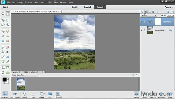 Improving photos with adjustment layers: Up and Running with Photoshop Elements 11
