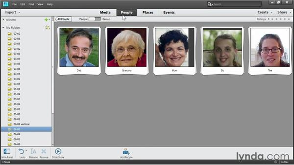 Organizing using People: Up and Running with Photoshop Elements 11