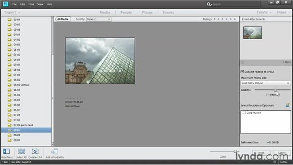 Sending photos by email: Up and Running with Photoshop Elements 11