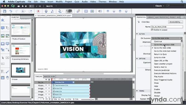 Inserting interactive elements: Up and Running with Captivate 6