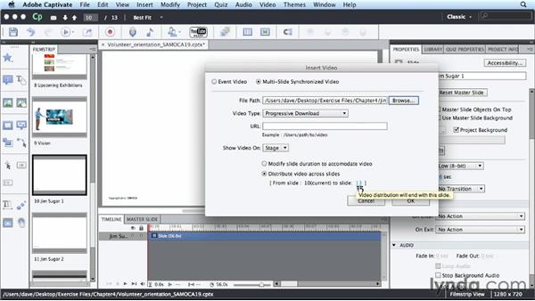 Synchronizing video: Up and Running with Captivate 6