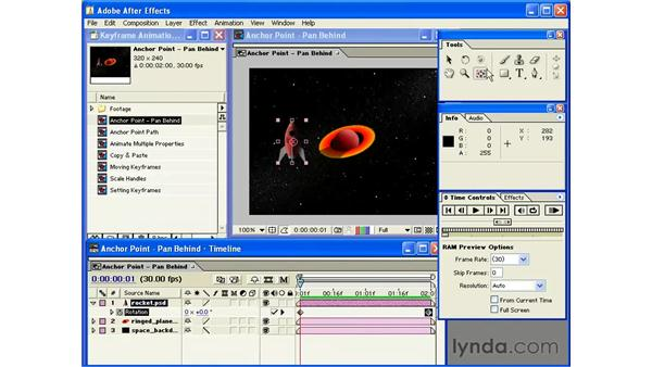 pan behind tool: After Effects 6 Essential Training