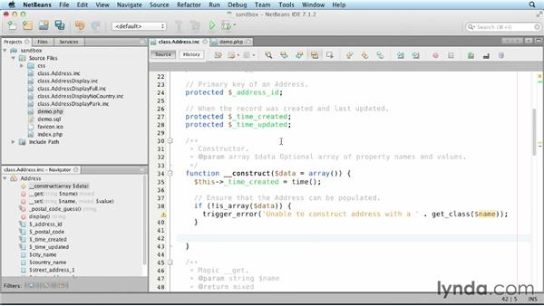 Customizing object construction: Object-Oriented Programming with PHP